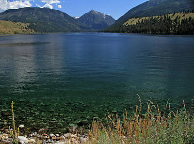 Photograph - Wallowa Lake Hot July Afternoon by Ed  Riche
