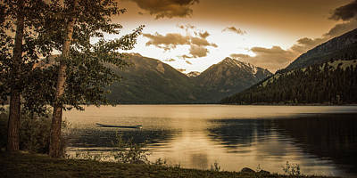 Photograph - Wallowa Lake Sunset by Don Schwartz
