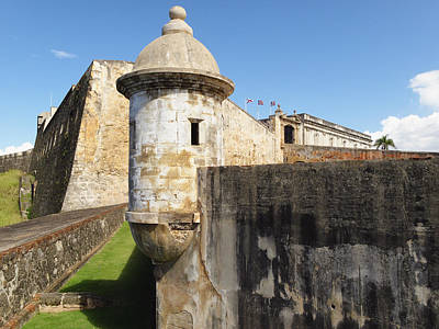 Walls Of San Cristobal Fort San Juan Puerto Rico  Art Print by George Oze