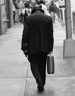 Photograph - Wall Street Man by Dave Beckerman