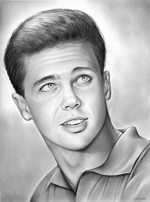Beaver Drawing - Wally Cleaver by Greg Joens