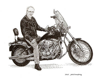 Drawing - Wally's Ride by Jack Pumphrey