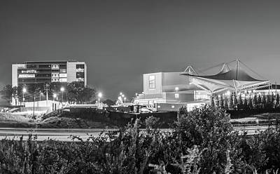 Photograph - Walmart Amp And Northwest Arkansas Cityscape - Black And White by Gregory Ballos