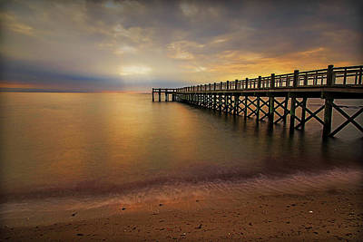 Photograph - Walnut Beach Pier by John Vose