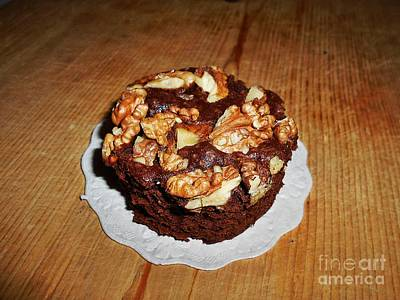 Photograph - Walnut Brownie  by Erika H