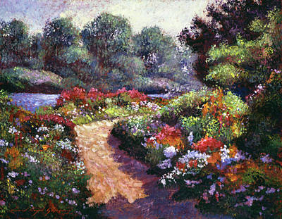 Painting -  Walnut River Garden by David Lloyd Glover