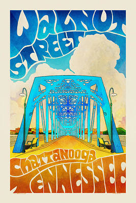 Photograph - Walnut Street Poster by Steven Llorca