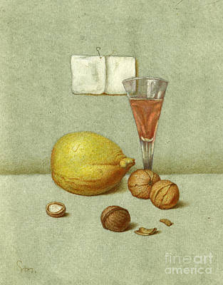 Walnuts And Lemon Art Print