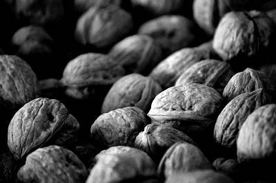 Photograph - Walnuts Ready For Baking Bw by Lesa Fine