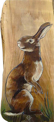 Painting - Walnutty Bunny by Jacque Hudson