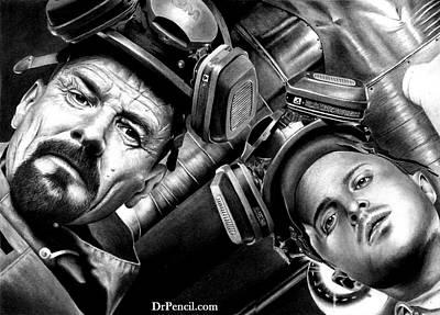 Pinkman Drawing - Walt And Jess - Superlab by Rick Fortson