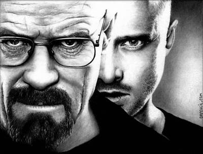 Drawing - Walt And Jesse by Rick Fortson