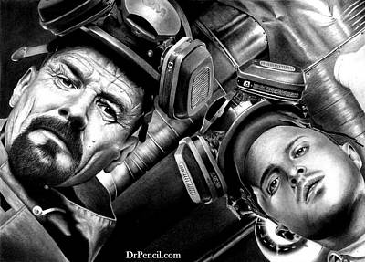 Drawing - Walt And Jesse Super Lab by Rick Fortson