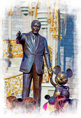 Art Print featuring the photograph Walt And Mickey by Mark Andrew Thomas