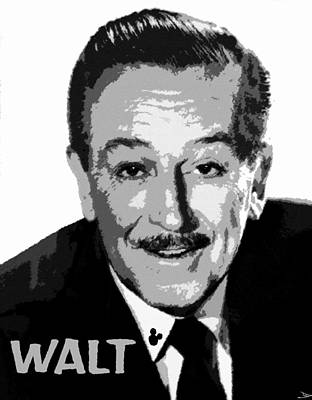 Disney Painting - Walt by David Lee Thompson