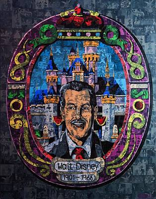 Shirley Temple Mixed Media - Walt Disney by Brent Andrew Doty