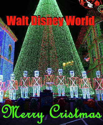 Photograph - Walt Disney Christmas Tree And Toy Soldiers by David Lee Thompson