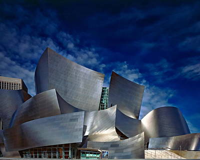 Photograph - Walt Disney Concert Hall by Anthony Dezenzio