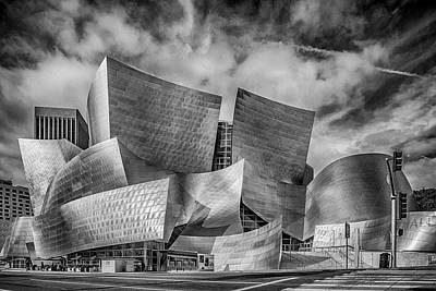 Photograph - Walt Disney Concert Hall La Ca  Bnw 7r2_dsc3465_17-01-17 by Greg Kluempers