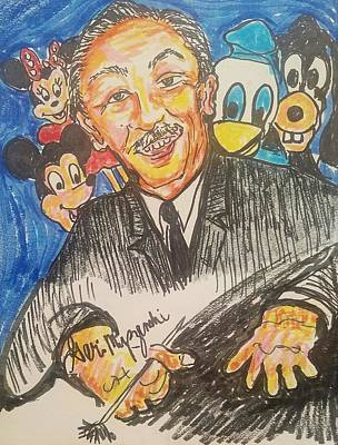 Walt Drawing - Walt Disney by Geraldine Myszenski