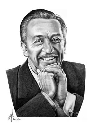 Animation Drawing - Walt Disney by Murphy Elliott