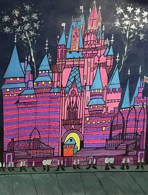 Walt Disney World Cinderrela Castle Art Print
