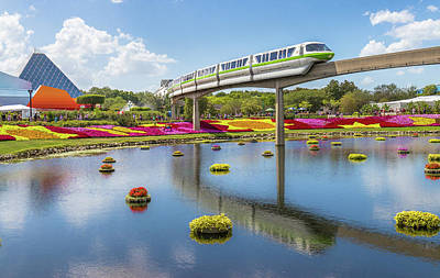 Photograph - Walt Disney World Epcot Flower Festival by Robert Bellomy