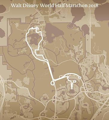 Walt Disney World Digital Art - Walt Disney World Half Marathon #1 by Big City Artwork