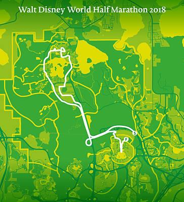 Walt Disney World Digital Art - Walt Disney World Half Marathon #2 by Big City Artwork