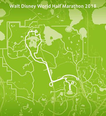 Walt Disney World Digital Art - Walt Disney World Half Marathon by Big City Artwork