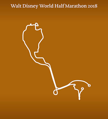 Walt Disney World Digital Art - Walt Disney World Half Marathon Line by Big City Artwork