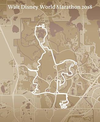 Walt Disney World Digital Art - Walt Disney World Marathon #1 by Big City Artwork