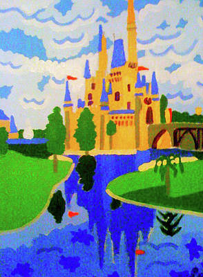 Cinderella Castle Painting - Walt Disney World  by Pedro Domingo