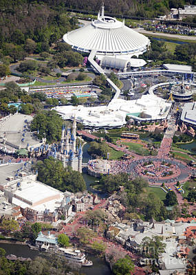 Aeriel View Photograph - Walt Disney World's Magic Kingdom by Anthony Totah