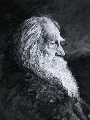 Painting - Walt Whitman by Christian Klute