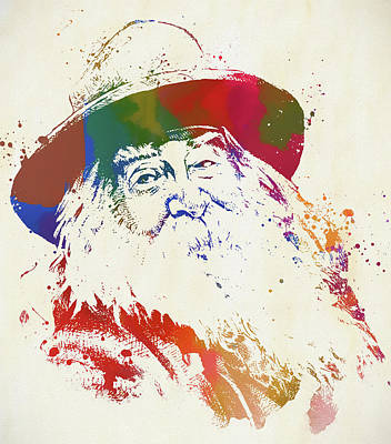Painting - Walt Whitman by Dan Sproul