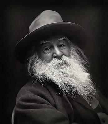 Digital Art - Walt Whitman by Daniel Hagerman
