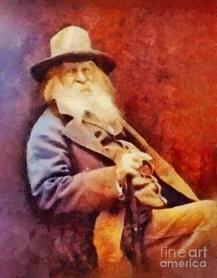 Literature Painting - Walt Whitman, Literary Legend by Sarah Kirk