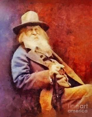 Literature Painting - Walt Whitman, Literary Legend by Sarah Kirk