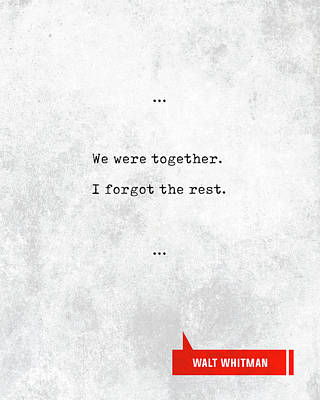 Farmhouse Rights Managed Images - Walt Whitman Quotes - Literary Quotes - Book Lover Gifts - Typewriter Quotes - Love Quotes Royalty-Free Image by Studio Grafiikka