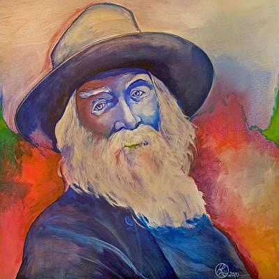 Walt Whitman Print by Robert Lacy