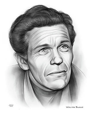 Drawing - Walter Burke by Greg Joens