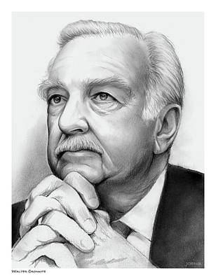 Drawing - Walter Cronkite by Greg Joens