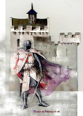 Painting - Walter De Riddelsford 1181 by Val Byrne
