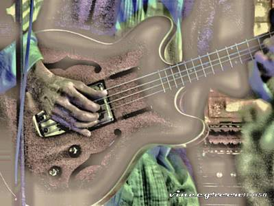 Digital Art - Walter Parks Plays - Study #2 by Vince Green