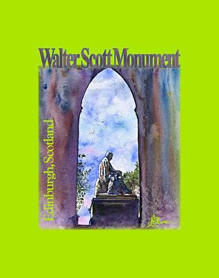 Painting - Walter Scott Monument Shirt by John D Benson