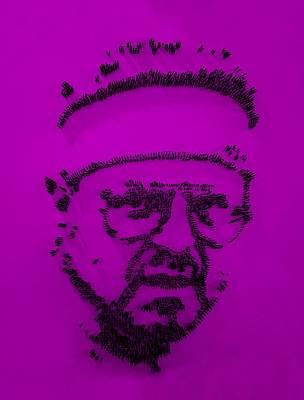 Walter Sobchak Nailed Purple Art Print by Rob Hans