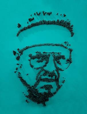 Walter Sobchak Nailed Turquoise Art Print by Rob Hans
