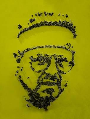 Walter Sobchak Nailed Yellow Art Print by Rob Hans