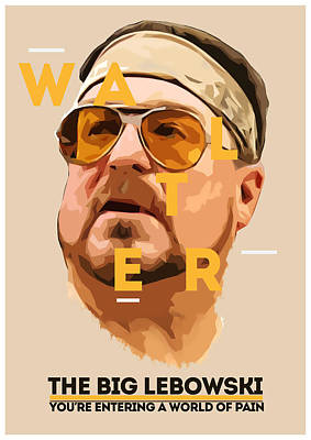 Walter Sobchak Art Print by Semih Yurdabak